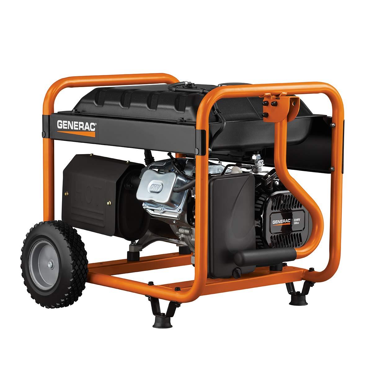 Generac 5975 5500 Running Watts 6875 Starting Gp5000 Generator Wiring Diagrams Gas Powered Portable Csa Approved Garden Outdoor