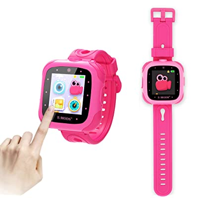 E-MODS GAMING Kids Smartwatch,1.5 inch Touchscreen 20 Games Multi Language Digital Smart Watch with Camera,Built-in Puzzle Game Toy Watch, Pink: Toys & Games