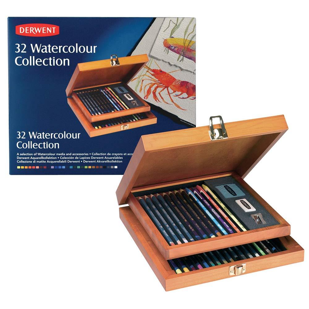Derwent Watercolour Collection Wooden Box