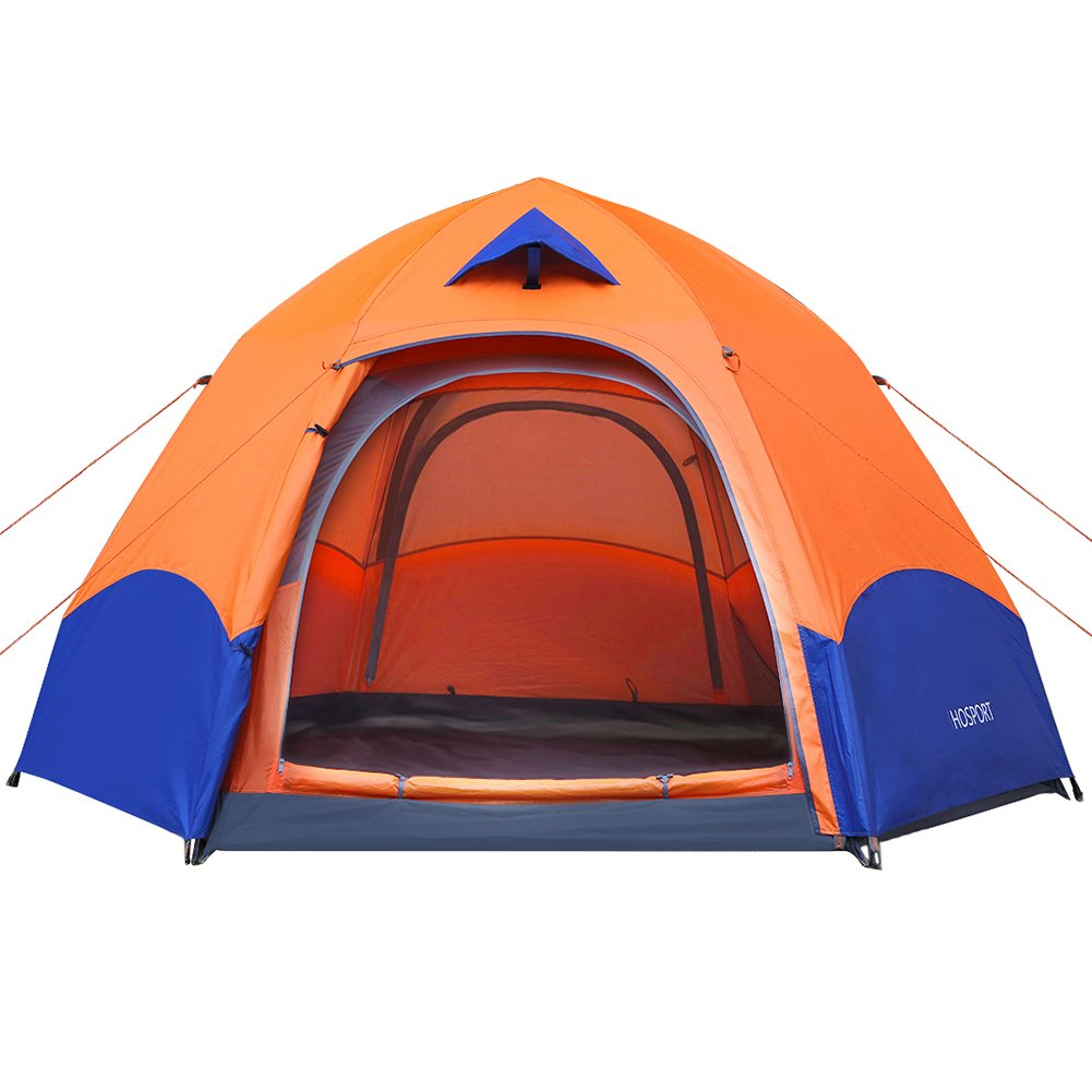 Camping Tent HOSPORT 3-4 Person Tent Pop Up Instant Automatic Backpacking Dome Tents Waterproof Canopy Tent for Camping Outdoor Sports Travel Beach