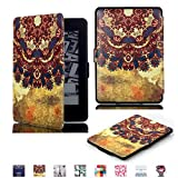 I MAX Amazon Kindle Paperwhite 3/ 2 /1 Case Cover,Art Oil Painting Ultra Slim Lightweight Smart-shell Stand Cover with Auto Wake / Sleep for Amazon Kindle Paperwhite 3 2 1 Gen (Exotic Culture) (Tribal)