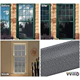"VViViD Black Perforated Vinyl Window Film to Prevent Bird Strike (48"" x 60"")"