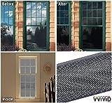 VViViD Black Perforated Vinyl Window Film to Prevent Bird Strike (17.9'' x 48'')