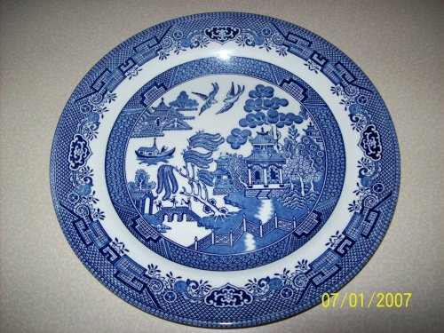 w Dinner Plate (English Blue Willow)