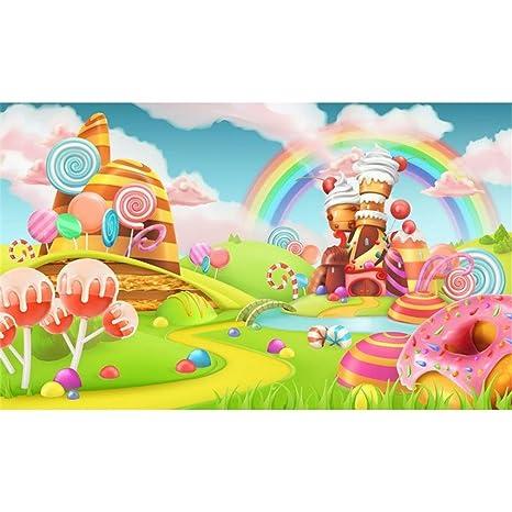 7 x 5ft castillo Kids Photocall Rainbow Candy cumpleaños ...