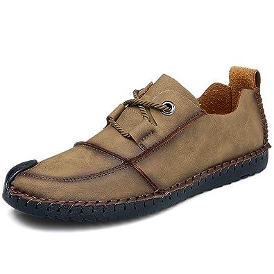 b836701d4d9f Hommes Mocassins Glissent sur la Conduite Souple en Cuir Causal Oxford Chaussures  pour la Marche en