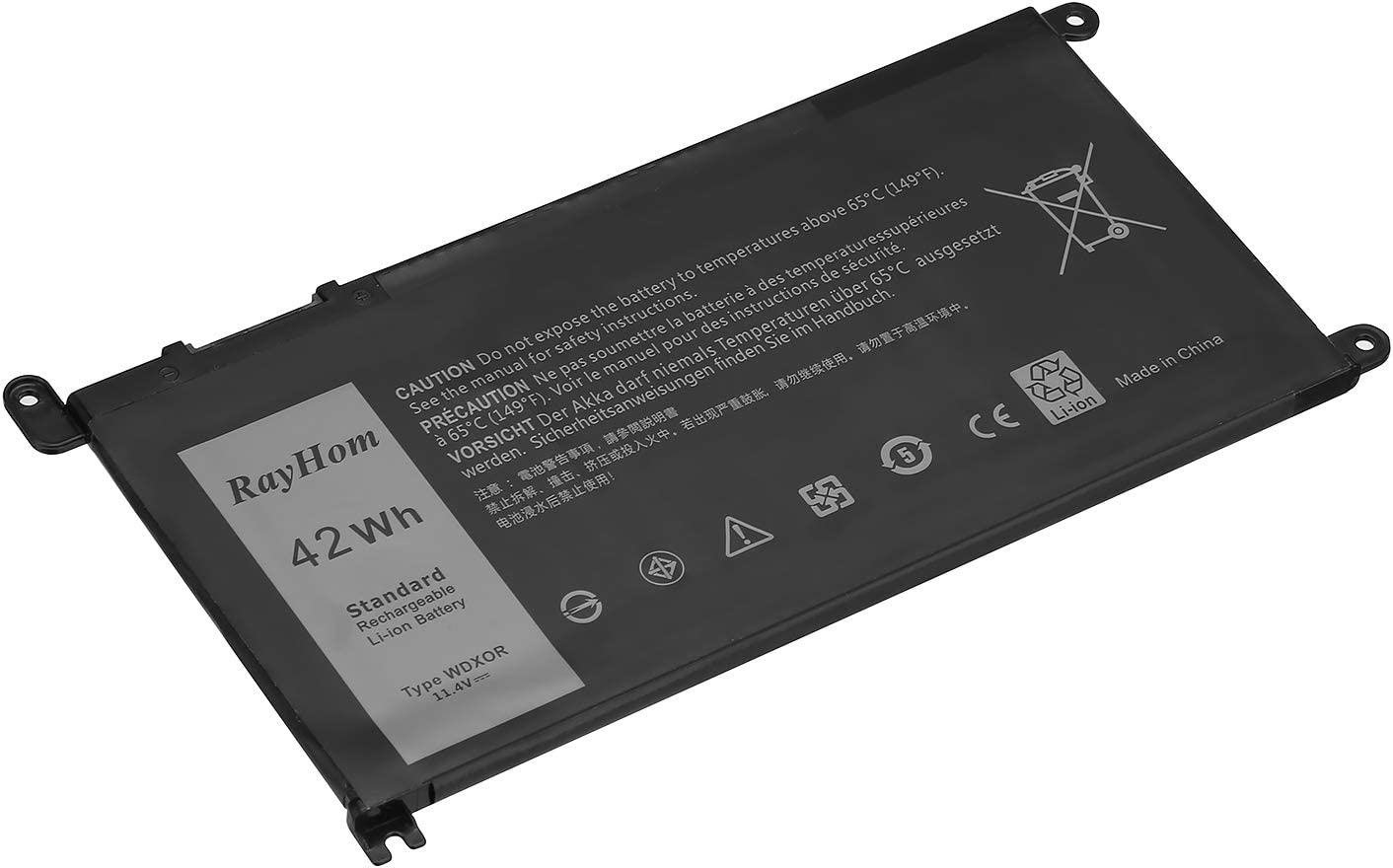 RayHom WDXOR Battery for Dell Inspiron 13 14 15 17 Series Notebook ...