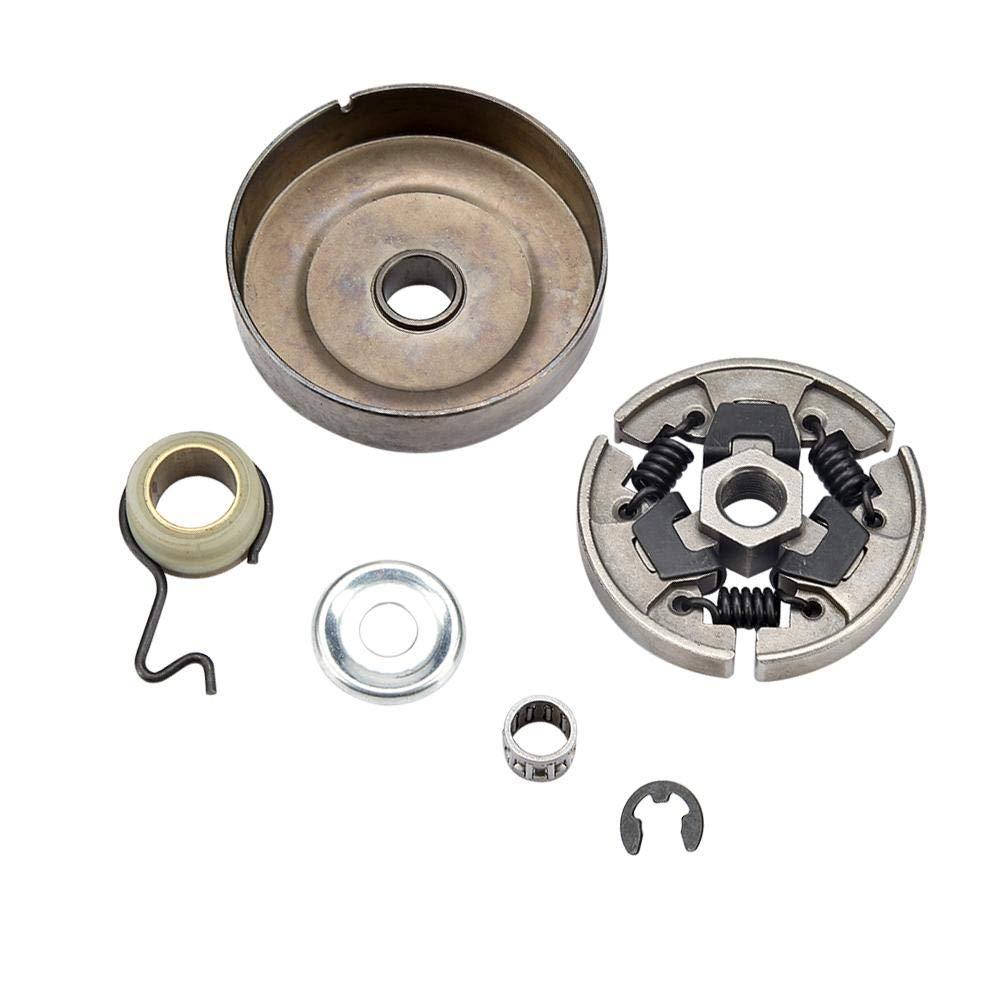 TOPINCN Kit de Embrague de piñón Fit Stihl 017 018 021 023 025 MS170 MS180 MS210 MS230 MS250 MS251 Kit de arandela de cojinete de Agujas con Borde de piñón: ...