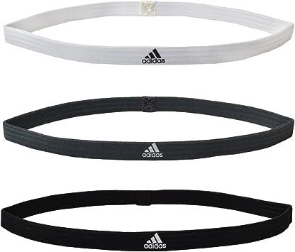Adidas e44675 de Sport Bandeau Cheveux élastique Lot de 3