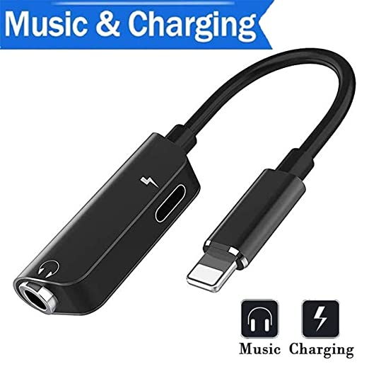 Amazon.com: UCDOUIT for iPhone Adapter Headphone Adapterwith iPhone X/XS/XS MAX/XR 8 / 8Plus 7/7 Plus 3.5mm Jack Dongle Earphone Connector Convertor 2 in 1 ...