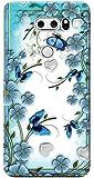 LG V30 Plus Kılıf Silikon Baskılı Çiçek ve Kelebekler STK:547