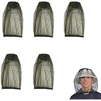 5-pack premium mygghuvud nät nät hatt ansikte nät lätt hållbart skyddande skydd flyga insekter insekter förhindrar…