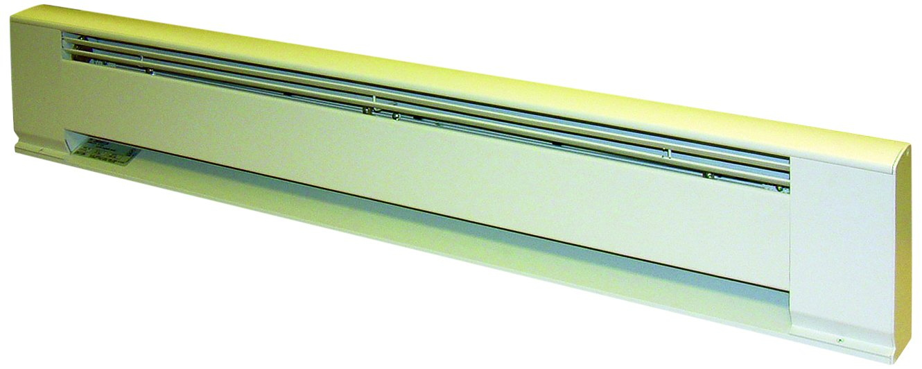 TPI G3705028 Series 3700 Aluminum Architectural Style Electric Baseboard Heater, 277/240V, Electric Fuel Type, White by TPI (Image #1)