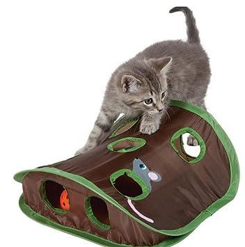 Ylen Plegable Gato Ratón de Caza Juguetes Interactivo Juguete de Ejercicio y Entrenamiento de Gatito Mascota: Amazon.es: Deportes y aire libre