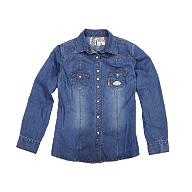 d1443b184f Image Unavailable. Image not available for. Color  Rasco W-DFR751 Women s  Fire Resistant Women s Denim Work Shirt ...