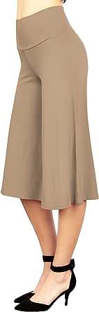 MBJ Womens Knit Capri Culottes Pants - Made in USA