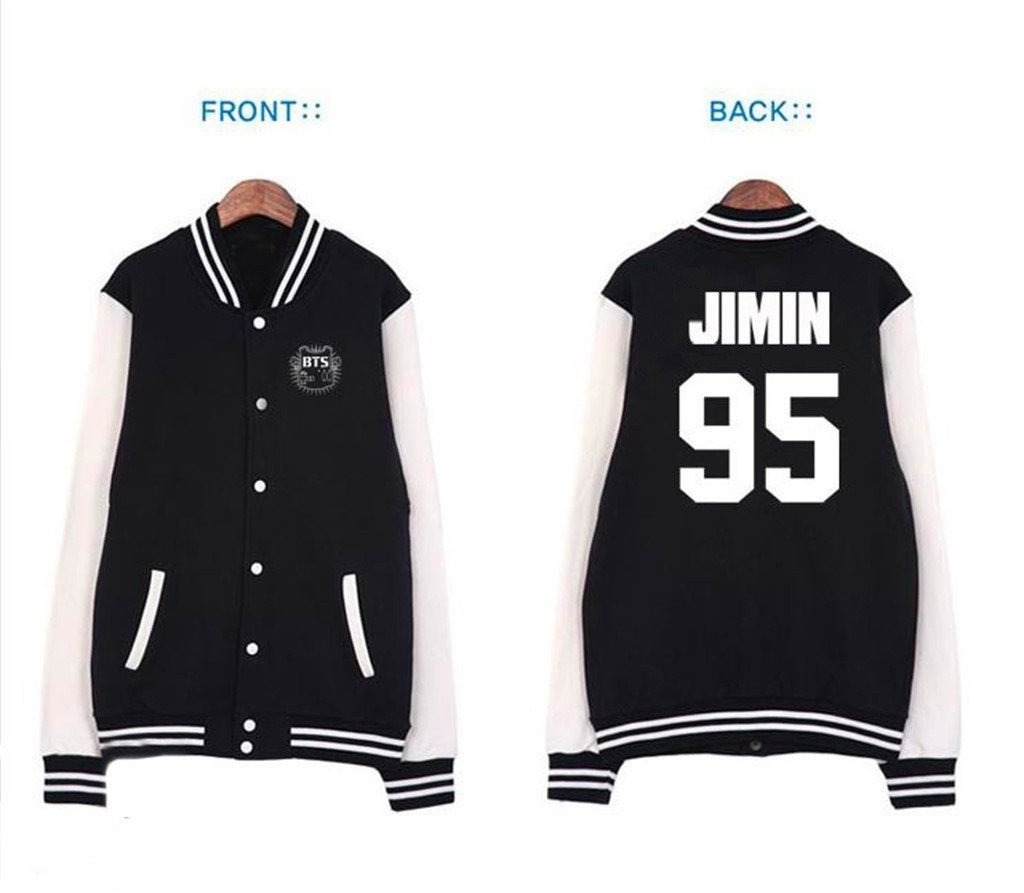 Fanstown BTS Bangtan Boy 公式同様野球パーカーセーター J-HOPE B00NQTV7ZO 2XL|jimin jimin 2XL