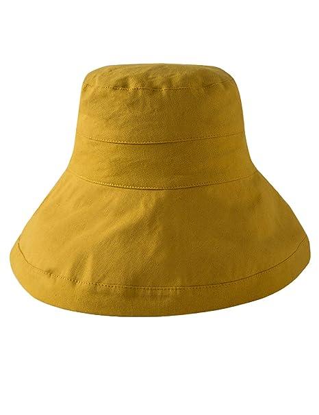 Letuwj - Protector Solar Moda Sombrero Pesca de Mujer Amarillo Talla única 48857426183