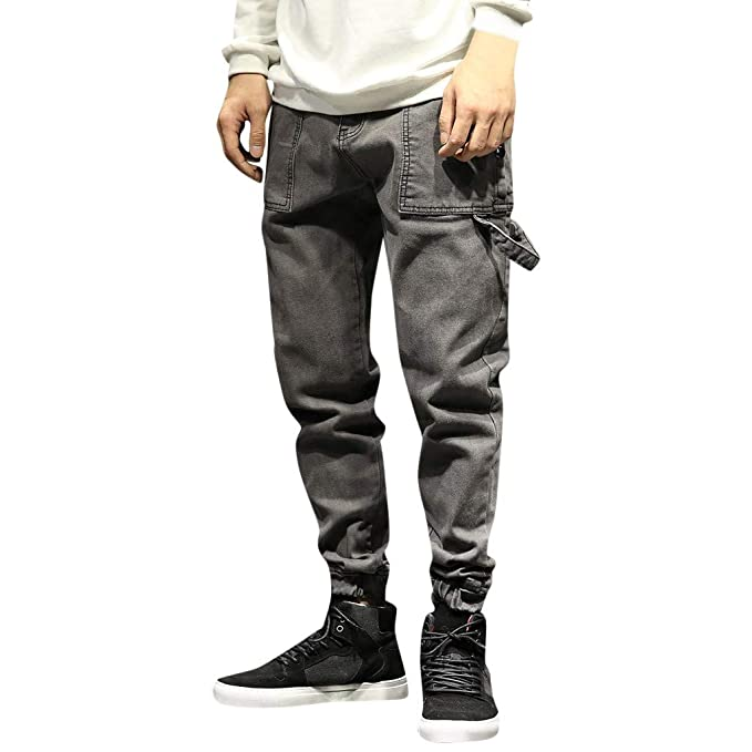 Pantalones Hombre Vaquero Estiramiento para Hombre ...