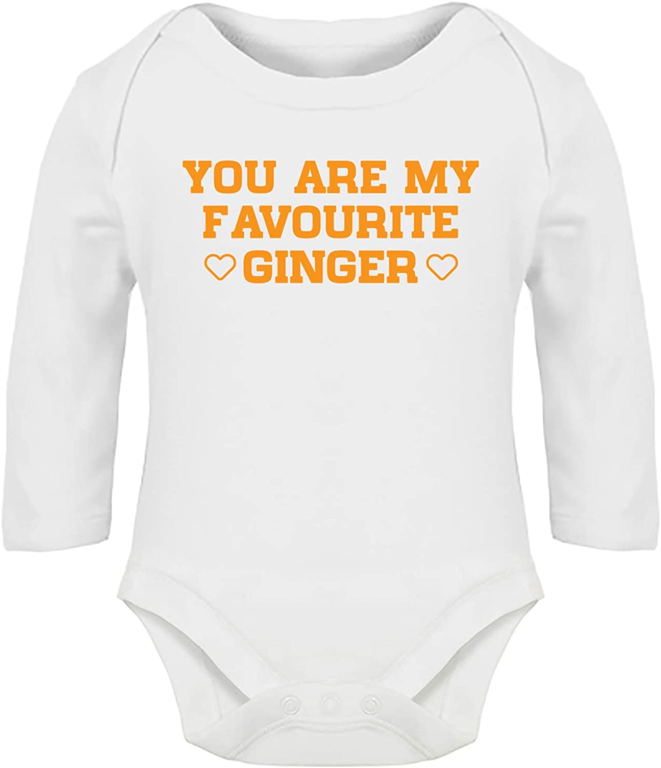 Boys Girls Long Sleeve Hippowarehouse You are My Favourite Ginger Baby Vest Bodysuit