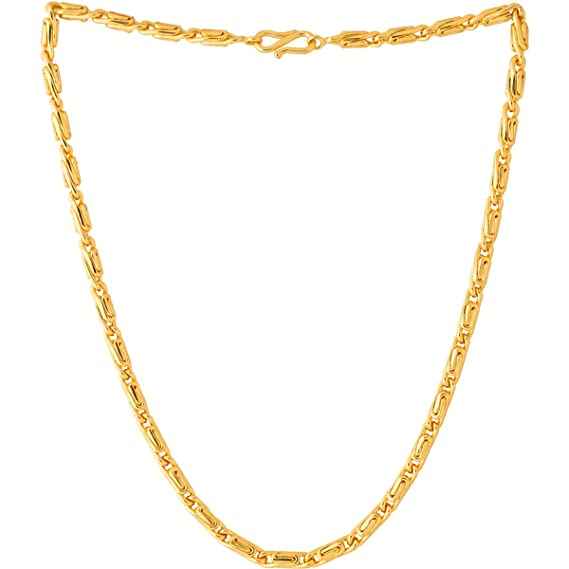 Buy Fashion Frill Gold Plated Long Necklace Fancy Jewellery Collection Neck Chain For Men Women Girls Boys Wedding Jewelry Round Design Elegant Gift At Amazon In