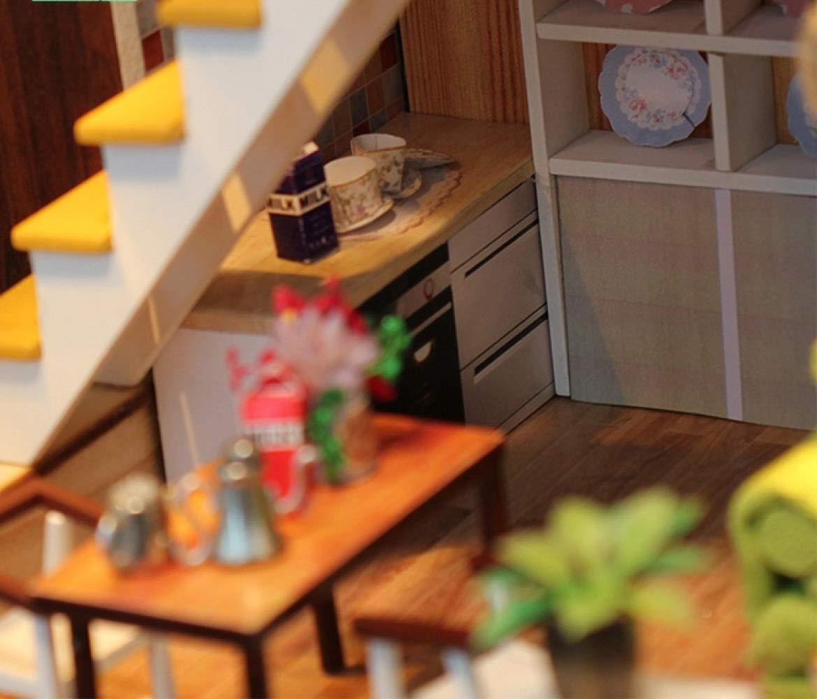 YWJHY DIY Hütte von Hand zusammengebautes vorbildliches hölzernes hölzernes hölzernes kreatives,Grau,Einheitsgröße 0fcabf