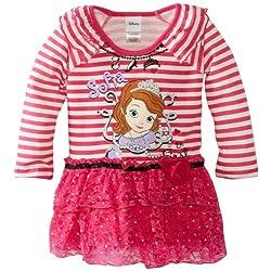 Disney Girls' Sofia 1 Pieced Stripped Dress