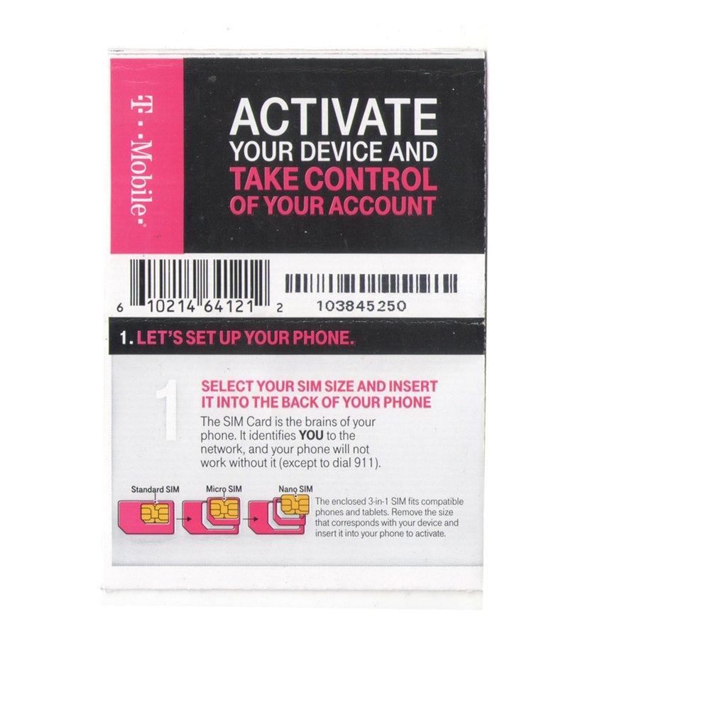 Amazon com: T-Mobile USA Prepaid Activation Code (No Sim