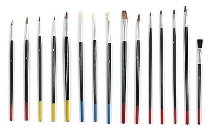 Amazon Com Decorative Paint Brush Set Of 15 Acrylic Paint