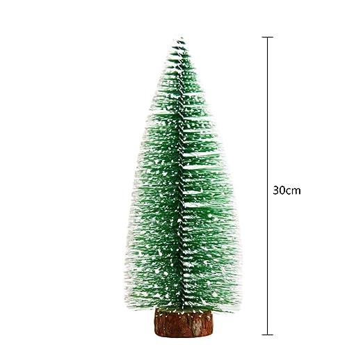 PeiQiH Mini Snow Ornaments Mesa Modelo árboles, DIY Escritorio ...