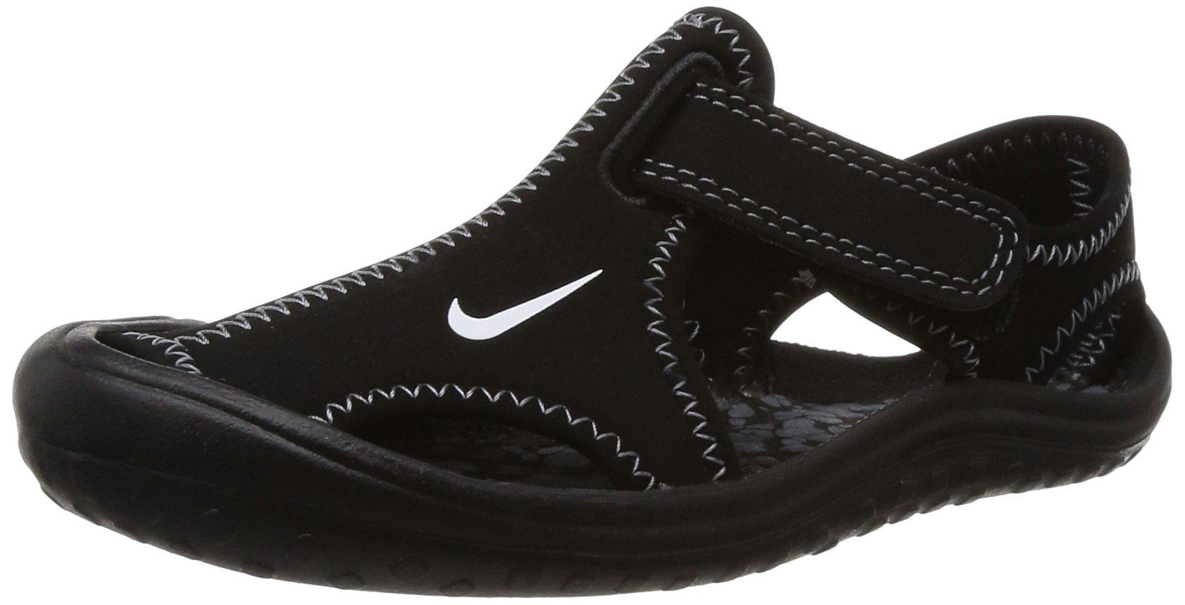 New Nike Boy's Sunray Protect Sandal Black/White 2 by NIKE
