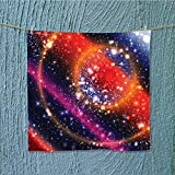 swim towel Apocalyptic Cosmos Design Circular Striped Sky Solar System Super Soft W13.8 x W13.8 INCH
