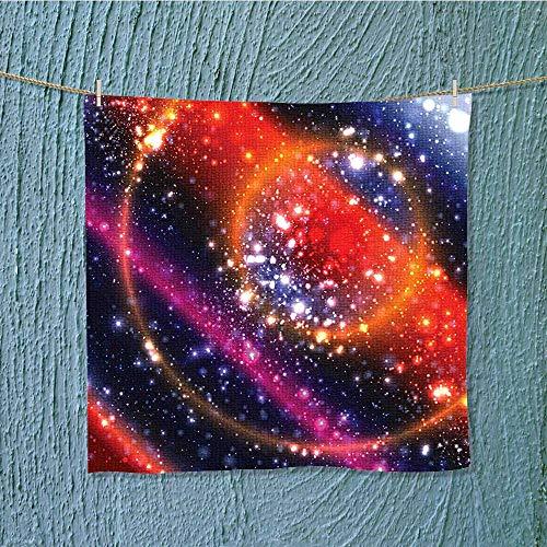 swim towel Apocalyptic Cosmos Design Circular Striped Sky Solar System Super Soft W13.8 x W13.8 INCH by SeptSonne