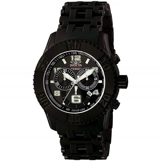 Invicta 6713 Sea Spider Reloj para Hombre acero inoxidable Cuarzo Esfera negro: Amazon.es: Relojes