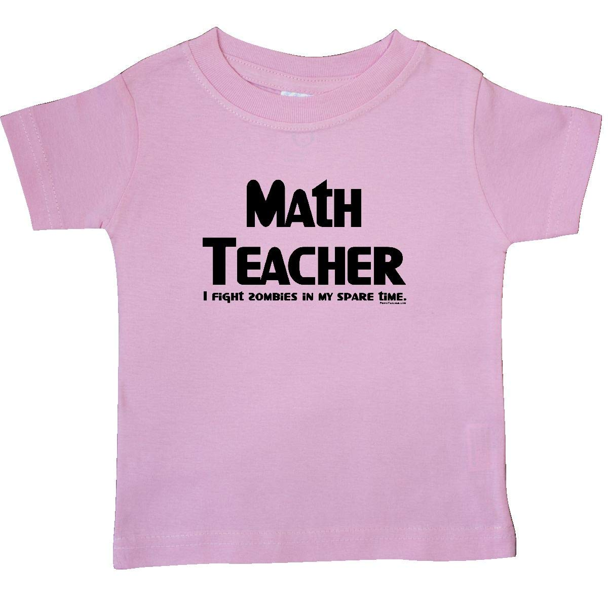 inktastic Math Teacher Zombie Fighter Baby T-Shirt