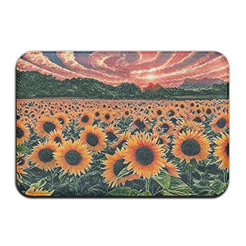 Qbeir Sunflower Wonderful Door Mat Doormat Door Mats Rug Entrance Mat ()