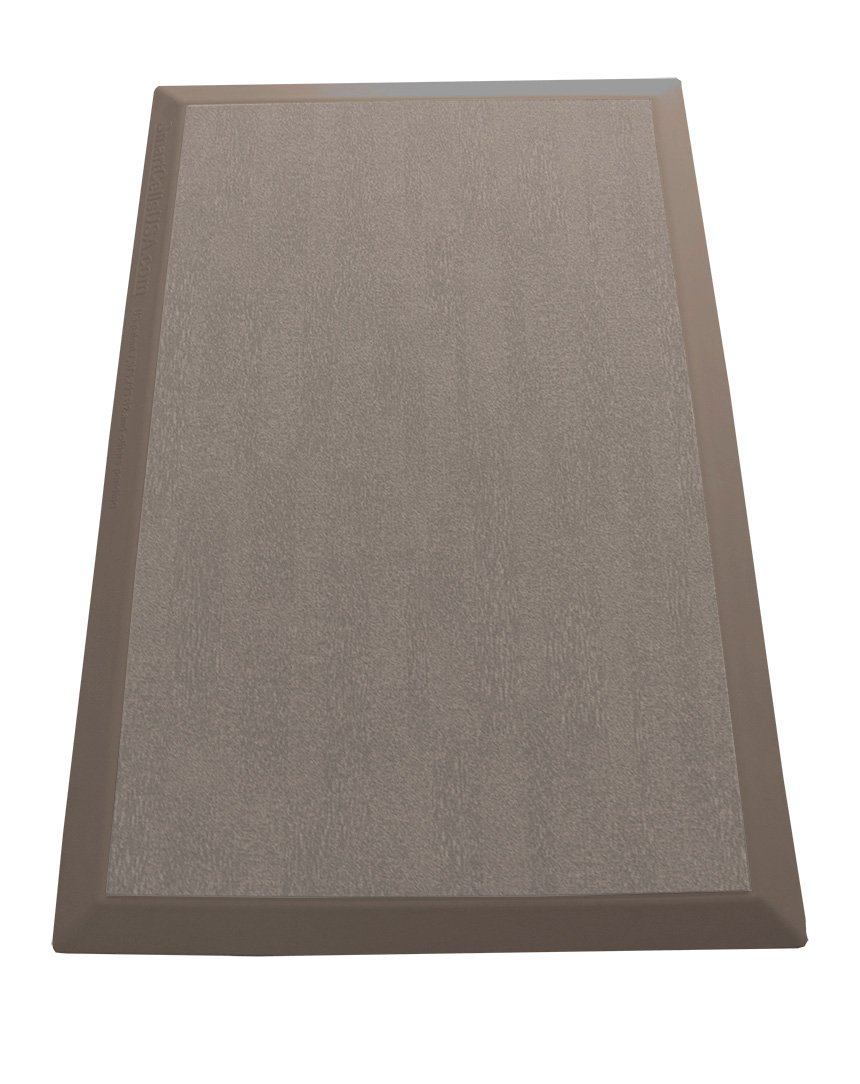 SmartCells Anti-Fatigue Comfort Mat for Home and Office, Light Brown, with Replaceable Tan-Pattern Carpet-Top Insert, 24-Inch by 36-Inch by SmartCells