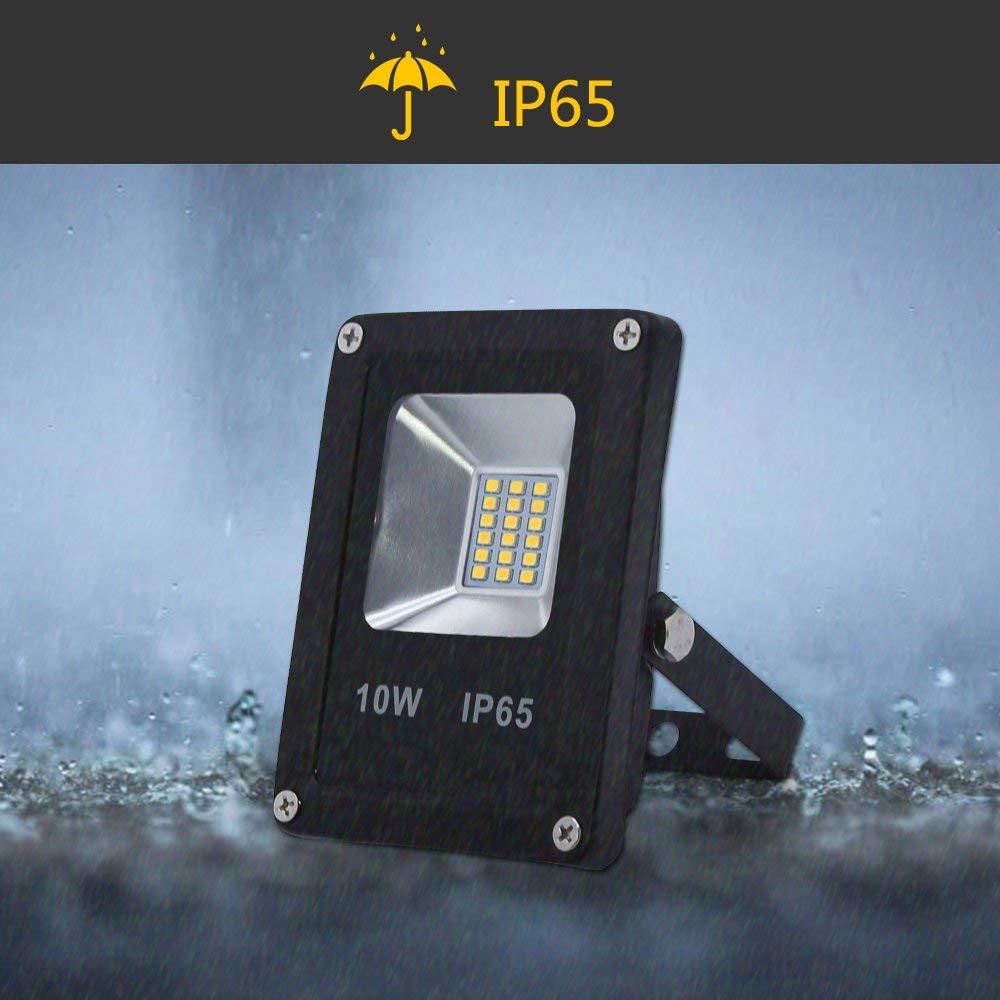Hengda/® 5X 10W Blanco C/álido LED Foco proyector Exterior LED Resistente al agua Floodlight IP65