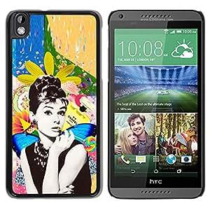For HTC DESIRE 816 Case , Photo Actress Star Hollywood 60'S - Diseño Patrón Teléfono Caso Cubierta Case Bumper Duro Protección Case Cover Funda