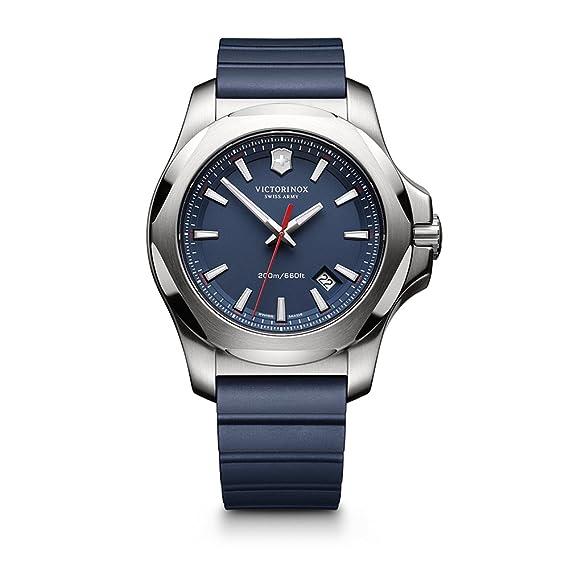 Victorinox 241688.1 - Reloj de Pulsera Hombre, Caucho, Color Azul