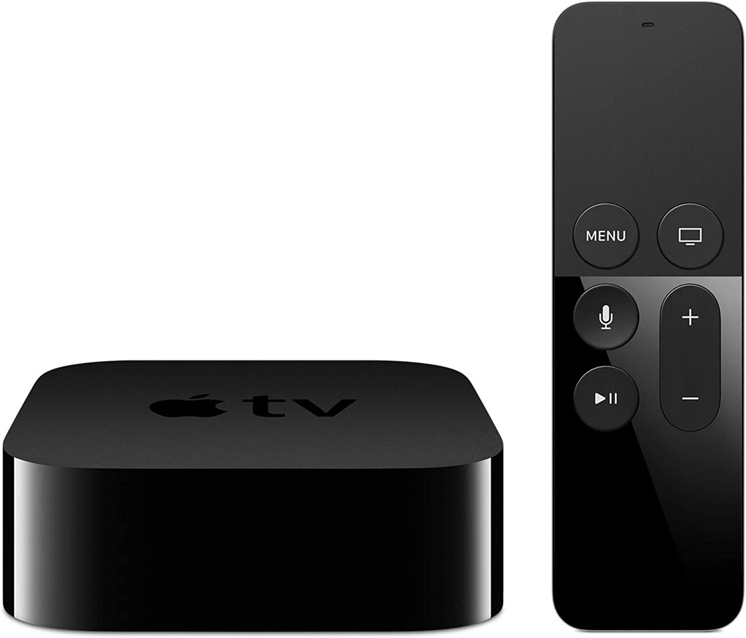 Apple TV 4K HD 32GB Streaming Media Player HDMI with Dolby Digital and Voice search by Asking the Siri Remote, Black, MQD22LL/A-32G (Renewed)