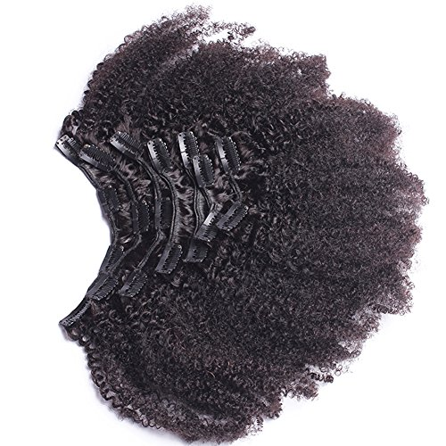 Afro Kinky Curly Clip In Human Hair Extensions Mongolian Virgin Human Hair African American Clip In Extensions16 Clip Ins 120gram/set,7pcs