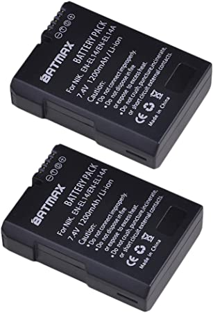 Compatible with Nikon D3100 LP EN-EL14 EN EL14a Battery P7700 /& More D5300 D5200 P7000 D3300 D5500 D3200 D5600 D5100 D3500 DF D3400