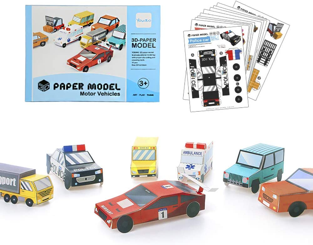 Origami Paper Truck and Car Kit - 150 mm - 37 sheets | 784x1000