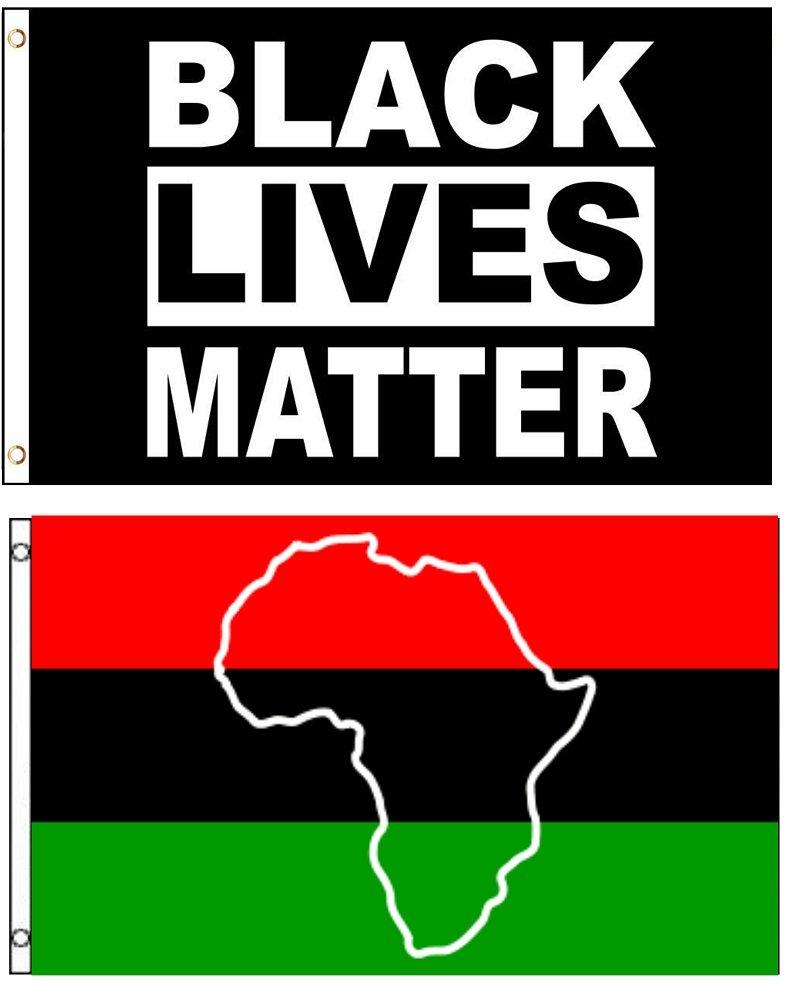 fc07f6dee02ee Amazon.com : 3x5 3'x5' Wholesale Combo African Africa Map & Black ...