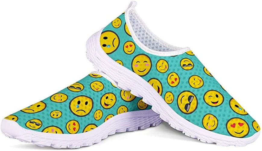 Womens Yellow green Leopard print Fashion Breathable Sneakers Casual Athletic Running Shoes