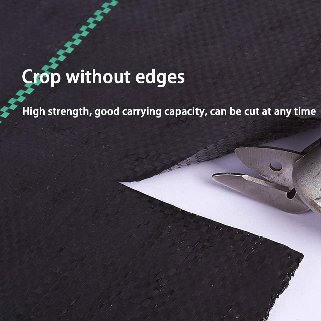 Size : 1m/×10m Noir QDTD Couvre-Sol Rouleau Heavy Duty Weed Control Tissu Barri/ère L/éger Durable 10 □ Couverture 1m X 10 M G/éotextiles
