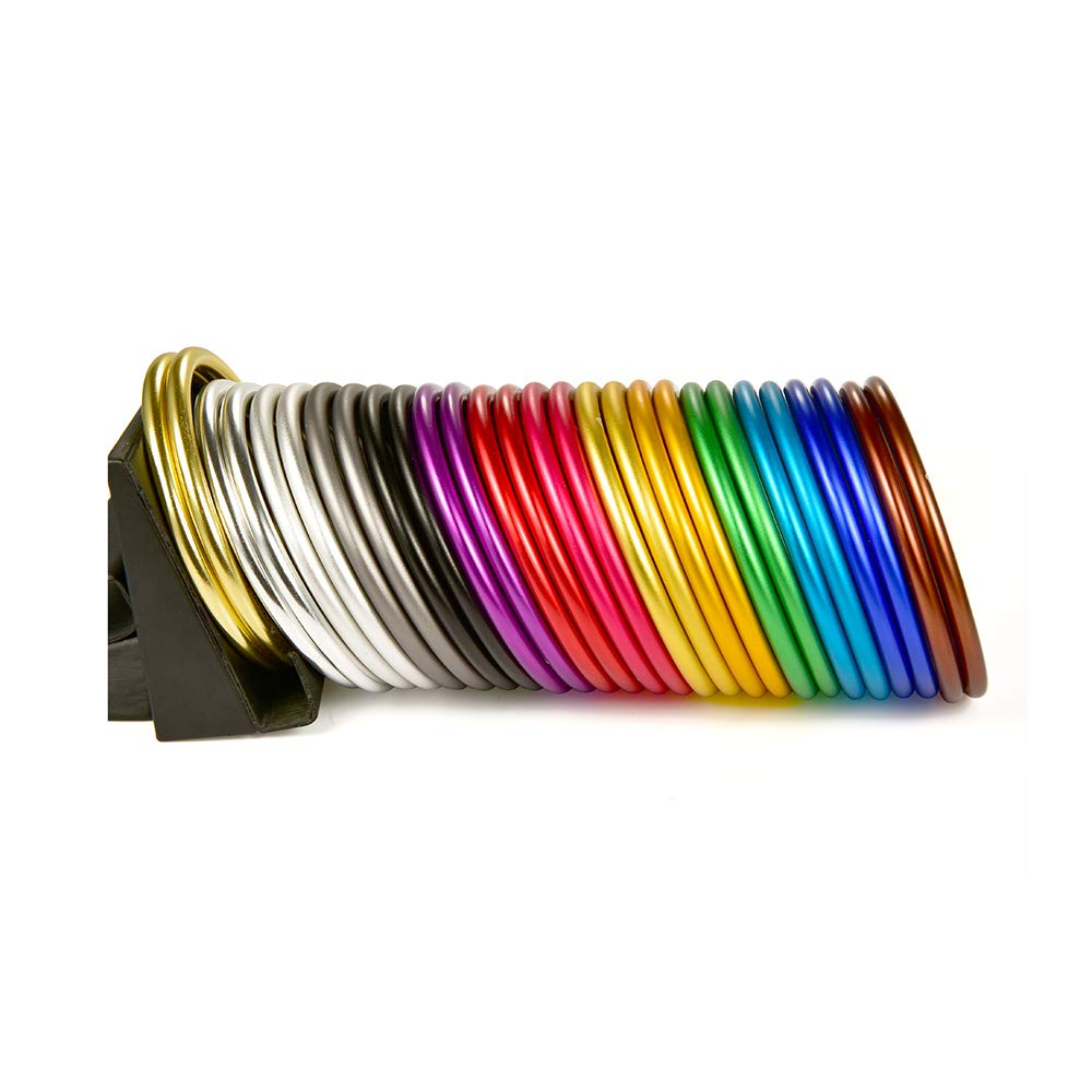 topind 3/anillos de aluminio de gran tama/ño beb/é sling para portabeb/és /& eslingas de 2/pcs dorado