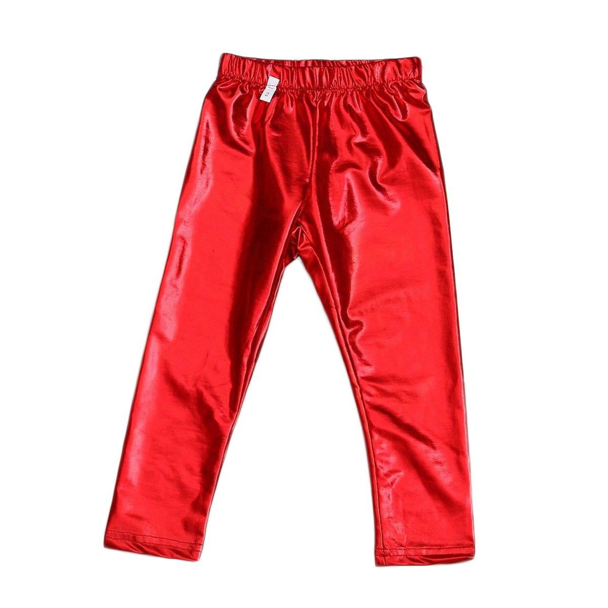 CHRISTYLE 1-9Y Fashion Baby Kids Girl Meryl Shiny Solid Skinny Leggings Pants Trousers