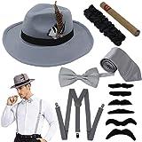 Manhattan 1920 - Juego de accesorios para disfraz de Gatsby Gangster retro